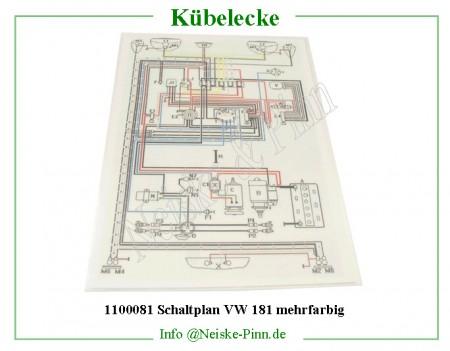 Schaltplan VW 181 mehrfarbig -1100081